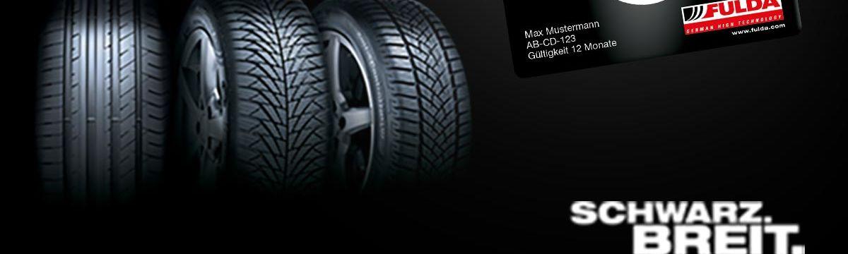 Schwarzfahren mit Garantie - 1 Jahr gratis Reifenversicherung für jeden Fulda Reifen